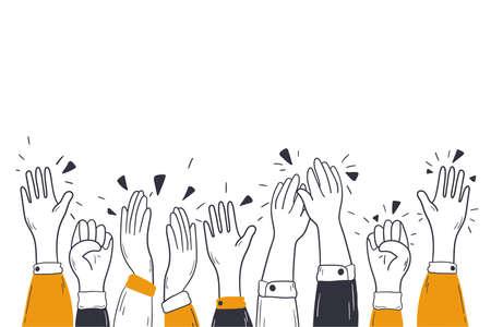 Applauding hands, congratulation, audience ovation concept Vektorgrafik