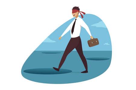 Business crisis, danger, trap concept