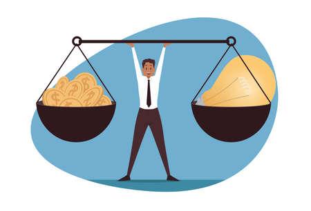 Management balance, leadership, business concept