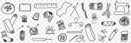 Tools for sewing doodle set