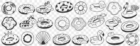 Circles for swimming doodle set