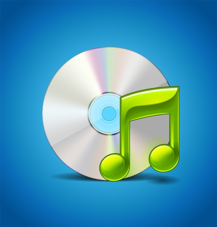 Music Icon With CD Stock Vector - 16753856