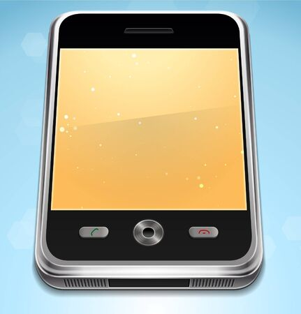 Vector Realistic Cell Phone Stock Vector - 16753870