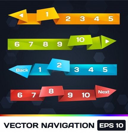 Trendy Navigation With Origami Stock Vector - 16747812