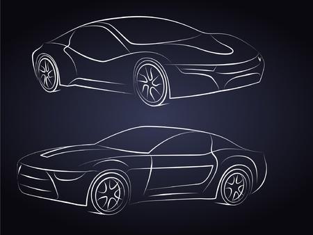 car outline: Vector Car Silhouettes
