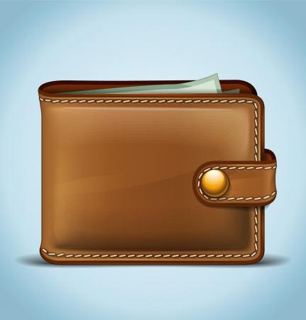Realistische Wallet Stock Illustratie