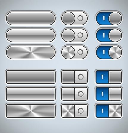 Realistische Metal Interface-elementen