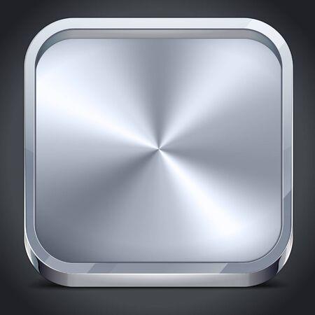 brushed aluminum: Realistic Metal Icon Border
