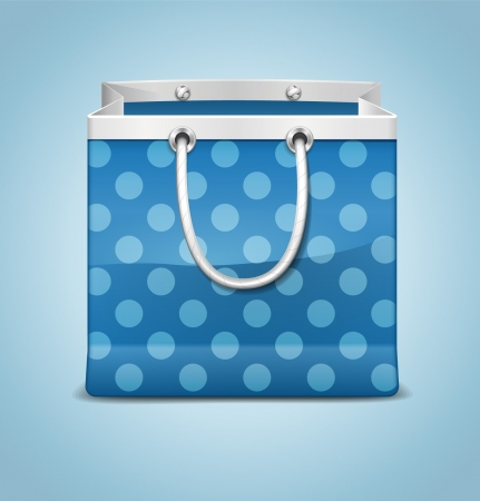 carry bag: Realistic Shopping Bag Illustration