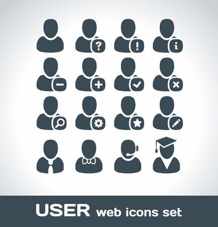 man profile: User Web Icons Set