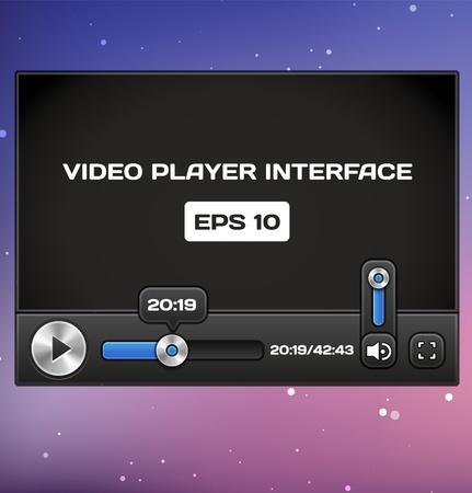 Video Player Interface Stock Vector - 16872818