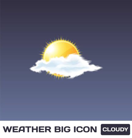 Cloudy Icon Stock Vector - 16872948