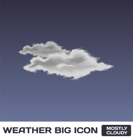 Mostly Cloudy Icon Stock Vector - 16872954