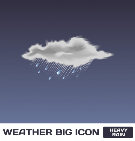 Heavy Rain Icon Stock Vector - 16872943