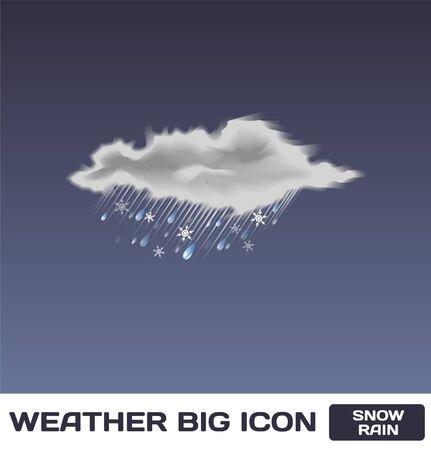 Snow Rain Icon Stock Vector - 16872950