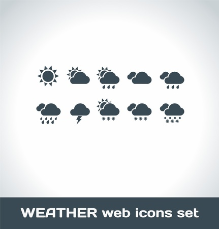 cold weather: Weather Icons Illustration