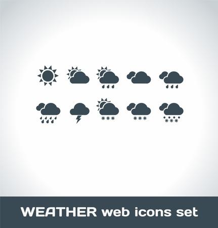 forecast: Weather Icons Illustration