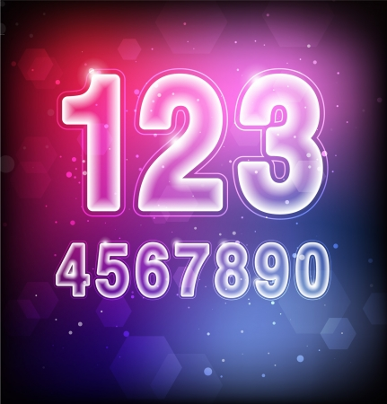 Abstract Numbers Stock Vector - 16873014