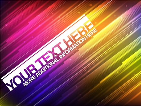 Abstract Glowing Banner With Colorful Stripes Stock Vector - 16873025