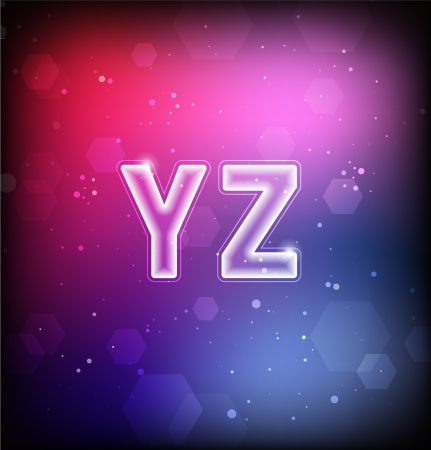 Abstract Font Y-Z Stock Vector - 16872988