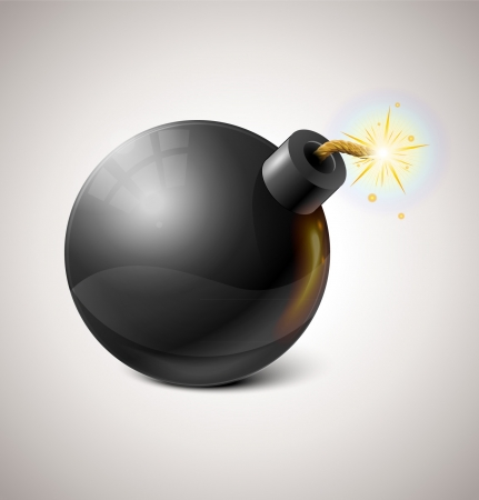 Black Bomb Illustration Stock Vector - 16872991