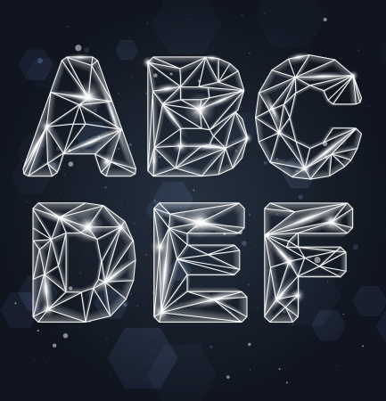 Constellation Geometric Font A-F