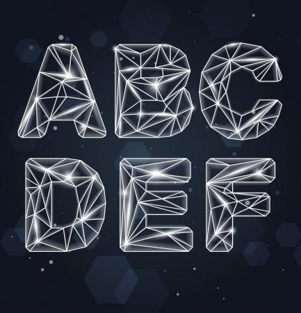 Constellation Geometric Font A-F