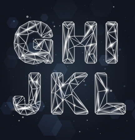 Constellation Geometric Font G-L