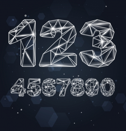 Constellation Geometric Numbers Stock Vector - 16873022