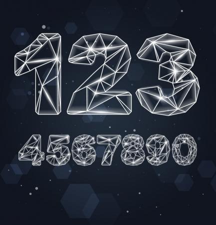 Constellation Geometrische Cijfers Stock Illustratie