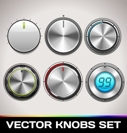 Knobs Set Stock Vector - 16873024