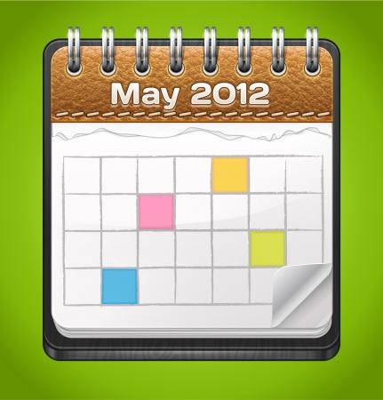Realistic Leather Calendar