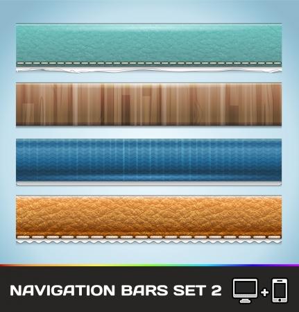 Navigatie Bars voor web en mobiele Set2 Stock Illustratie