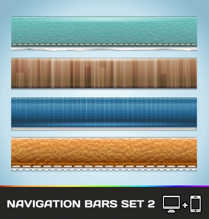 Navigation Bars For Web And Mobile Set2 Illustration