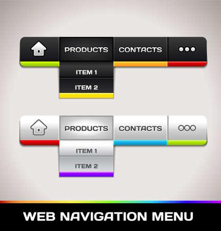 interface menu tool: Web Navigation Menu Illustration