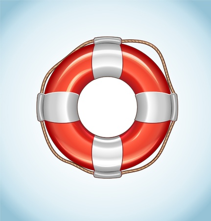 diving save: Red Life Buoy Icon