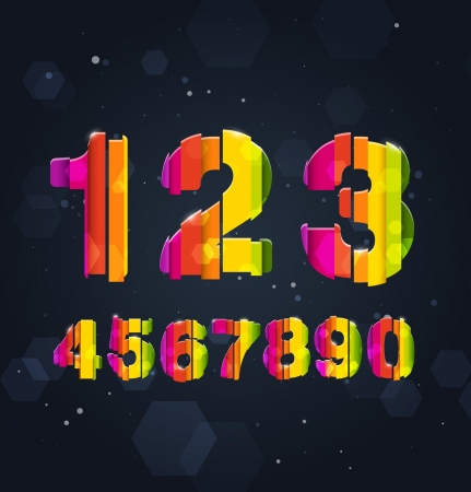 Abstract Rainbow Numbers Stock Vector - 16872983