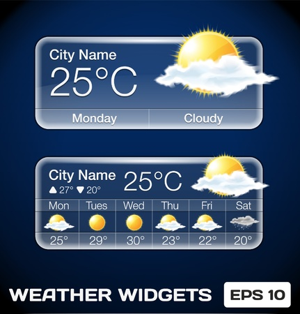 Weather Widgets Stock Vector - 16873029