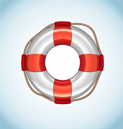 diving save: White Life Buoy Icon Illustration