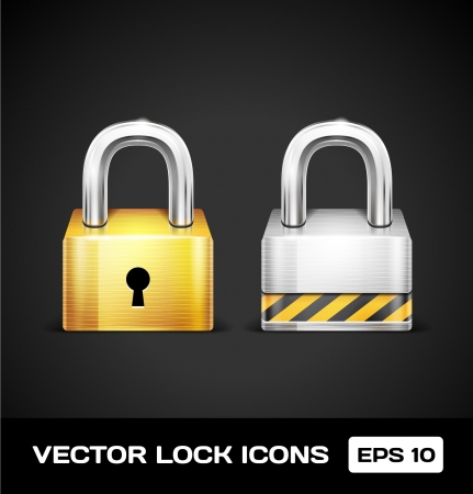 Lock Icons Stock Vector - 17315520