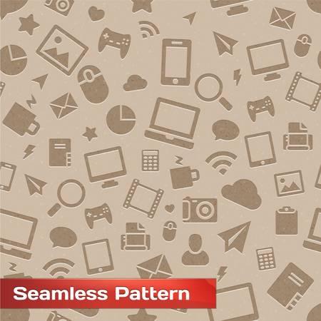 Seamless Media Pattern Stock Vector - 17315525
