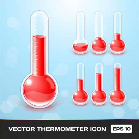 clinical thermometer:  Thermometer Icons Illustration