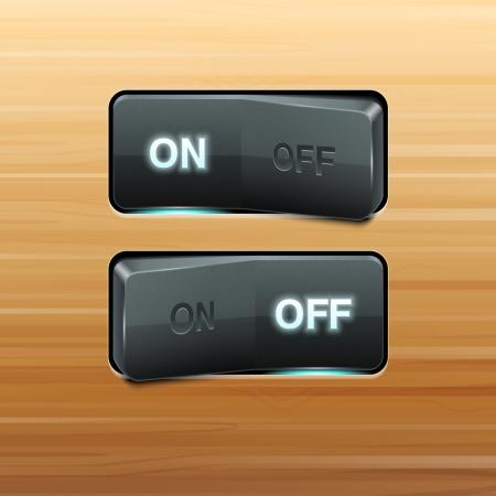 gatillo: Interruptor Realista Vectores