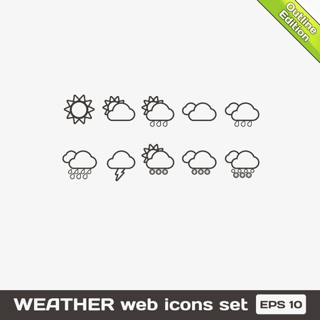 Weather Web Icons Set Stock Vector - 17315464