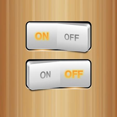 gatillo: Interruptor Realista Blanco Vectores