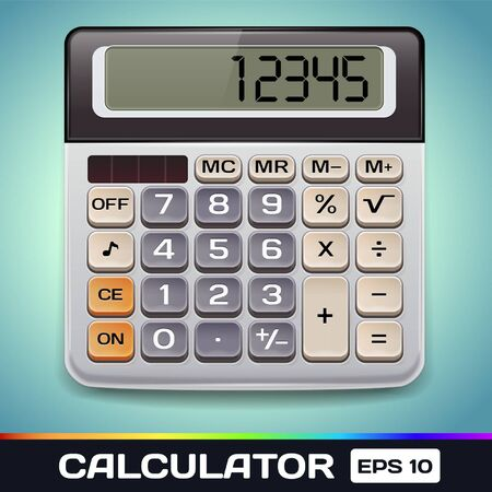 Realistic  Electronic Calculator Stock Vector - 17315500