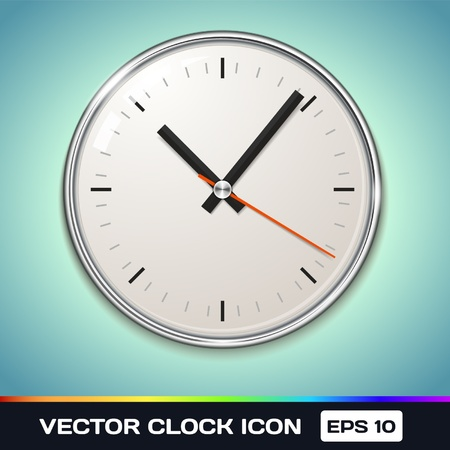 Clock Icon Stock Vector - 17315481