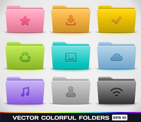 folder icons:  Different Kinds of Folders