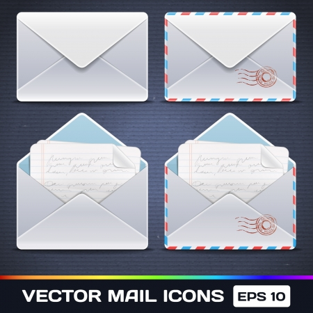 E Mail Icons Illustration