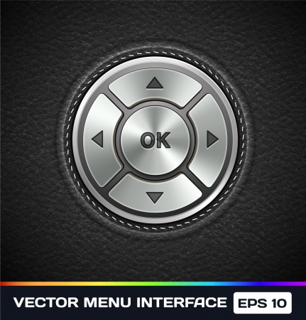 Menu Interface on Leather Background Stock Vector - 17315510
